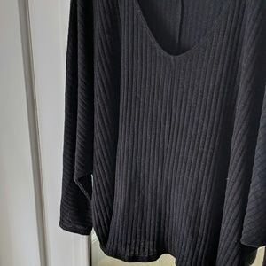 Urban Outfitters Sweaters - UO Black Choker Dolman Sleeve Ribbed Sweater